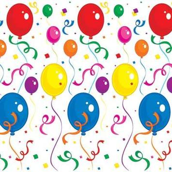 Balloons & Confetti Backdrop picture