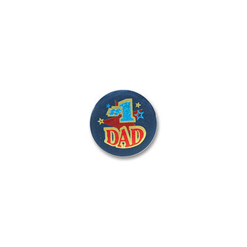 #1 Dad Satin Button picture