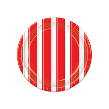 Red & White Stripes Plates picture