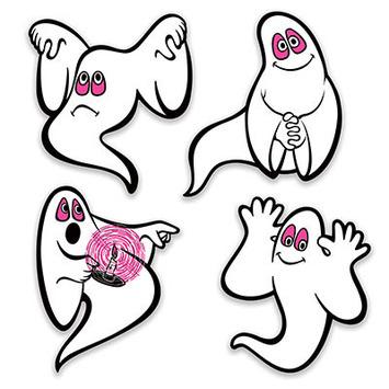 Vintage Halloween Ghosts Peel 'N Place picture