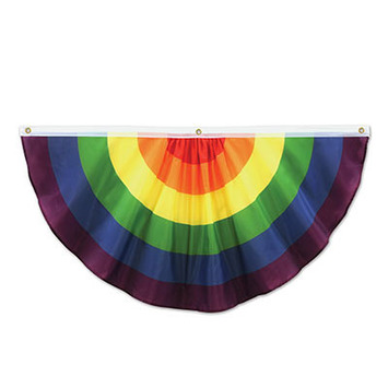 Rainbow Fabric Bunting picture
