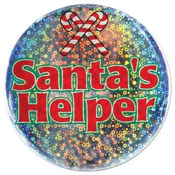 Santa's Helper Button picture