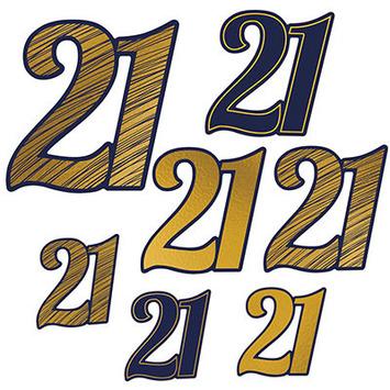 """""""21"""" Foil Cutouts picture"""