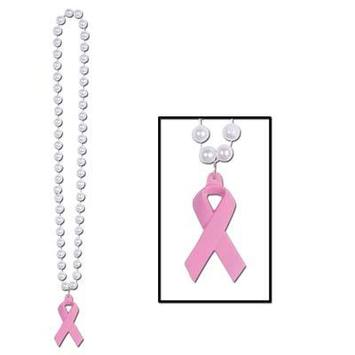 Beads w/Pink Ribbon Medallion picture