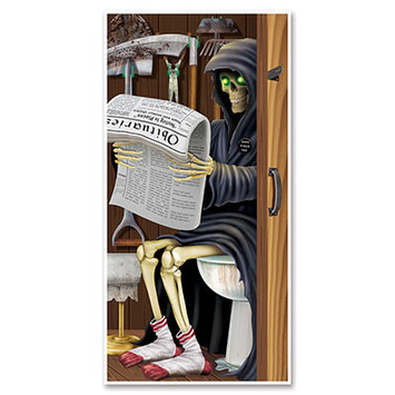 Grim Reaper Restroom Door Cover picture