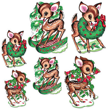 Vintage Christmas Reindeer Cutouts picture