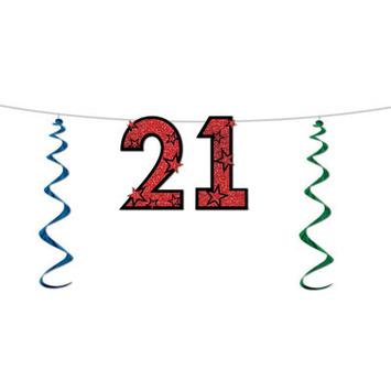 """21"" Glittered Streamer picture"