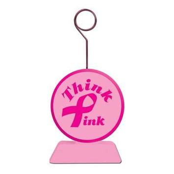 Pink Ribbon Photo/Balloon Holder picture