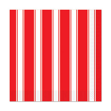 Red & White Stripes Luncheon Napkins picture