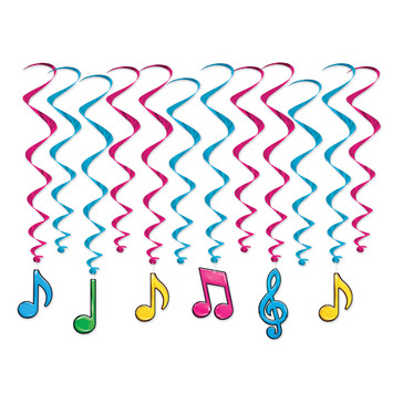 Neon Musical Notes Whirls picture