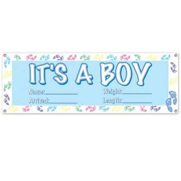 It's A Boy Sign Banner picture