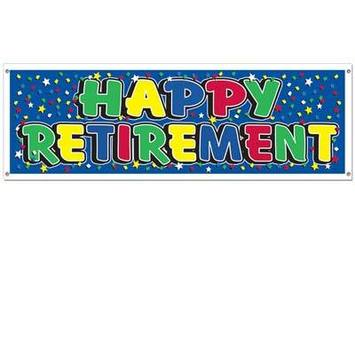 Happy Retirement Sign Banner picture