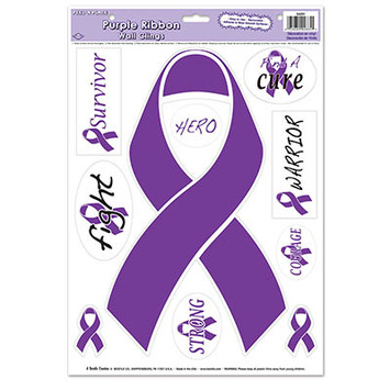 Purple Ribbon/Find A Cure Peel 'N Place picture