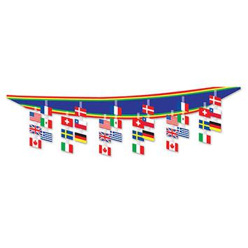 International Flag Ceiling Decor picture