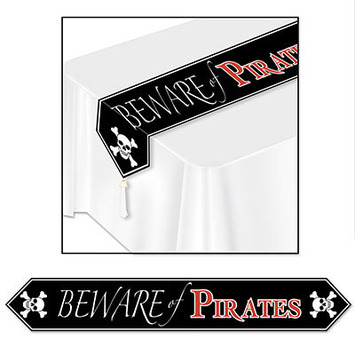 Printed Beware Of Pirates Table Runner picture