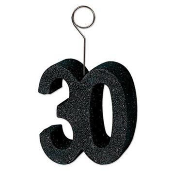 "Glittered ""30"" Photo/Balloon Holder picture"