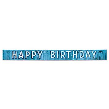 Metallic Happy Birthday Banner picture