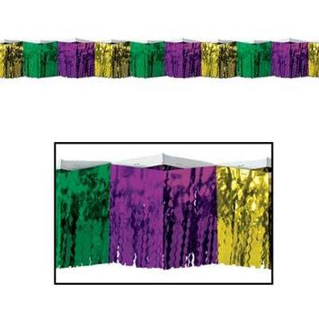 2-Ply FR Diamond Metallic Fringe Drape picture