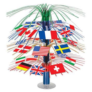 International Flag Cascade Centerpiece picture