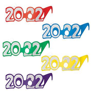 """2022"" Glittered Foil Eyeglasses picture"