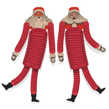Vintage Christmas Santa Tissue Dancers picture