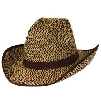 2-Tone Western Hat w/Brown Trim & Band picture