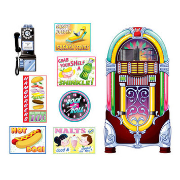 Soda Shop Signs & Jukebox Props picture