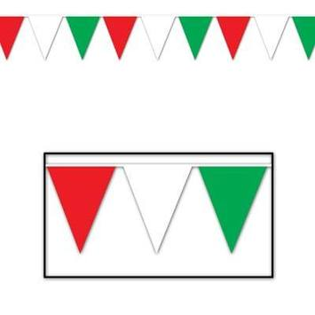 Red, White & Green Pennant Banner picture