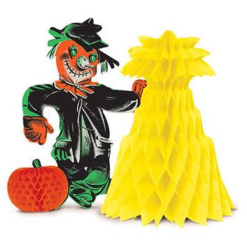Vintage Halloween Scarecrow Centerpiece picture