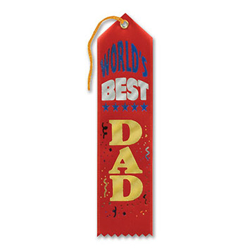 World's Best Dad Award Ribbon picture