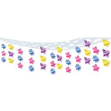 Butterfly & Flower Ceiling Decor picture