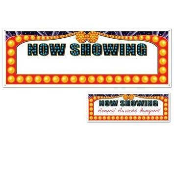 Now Showing Sign Banner picture