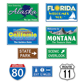 Travel America Road Sign Cutouts picture