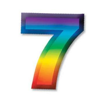 "Multi-Color Plastic 3-D Number ""7"" picture"