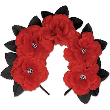 Day of the Dead Red Floral Headband picture
