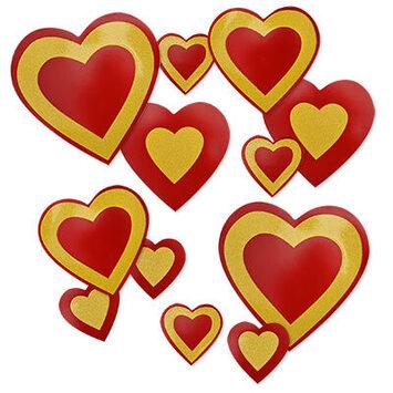Glittered Heart Cutouts picture