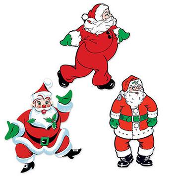 Vintage Christmas Santa Cutouts picture