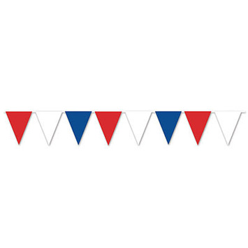 Red, White & Blue Pennant Banner picture