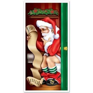 Santa Restroom Door Cover picture