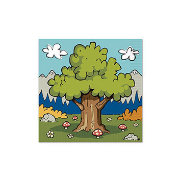 Woodland Friends Luncheon Napkins picture