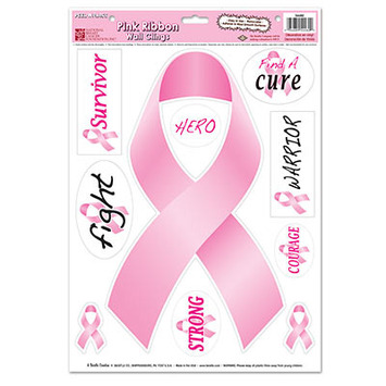 Pink Ribbon/Find A Cure Peel 'N Place picture