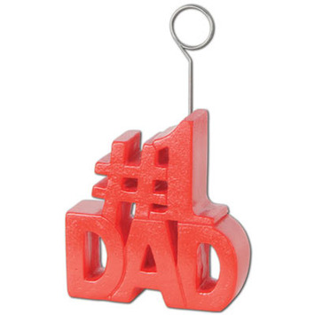 #1 Dad Photo/Balloon Holder picture
