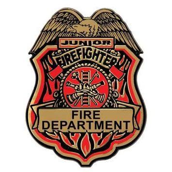 Junior Firefighter Plastic Badge w/Clip picture