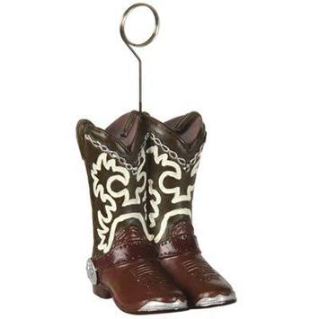Cowboy Boots Photo/Balloon Holder picture