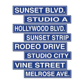 Hollywood Street Sign Cutouts picture