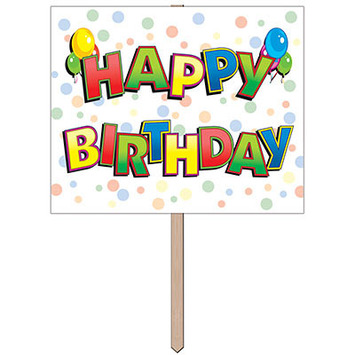 Happy Birthday Yard Sign picture