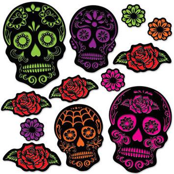 Day Of The Dead Sugar Skull Cutouts picture