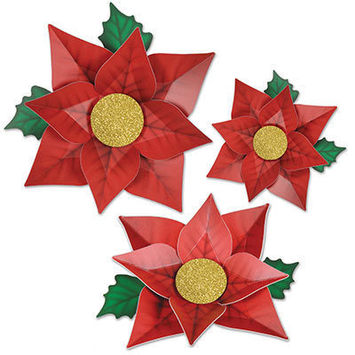 Poinsettia Paper Flowers picture