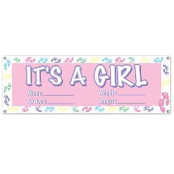 It's A Girl Sign Banner picture