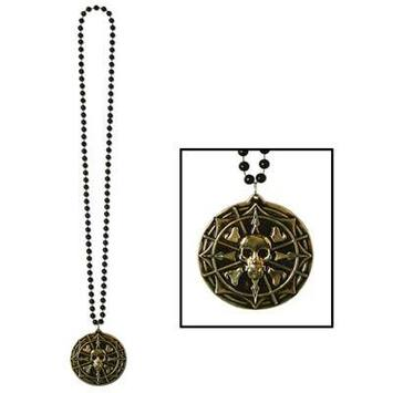 Beads w/Pirate Coin Medallion picture